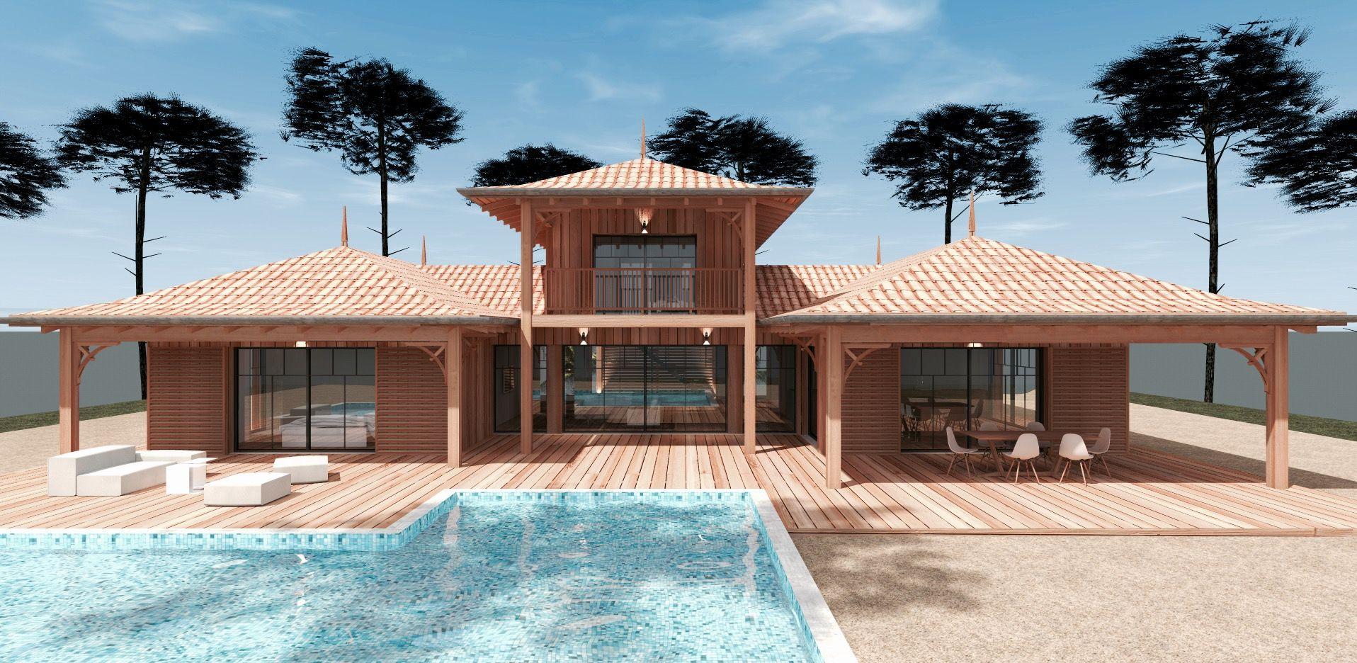 Constructeur maison individuelle en bois bassin d arcachon for Constructeur maison en bois 29