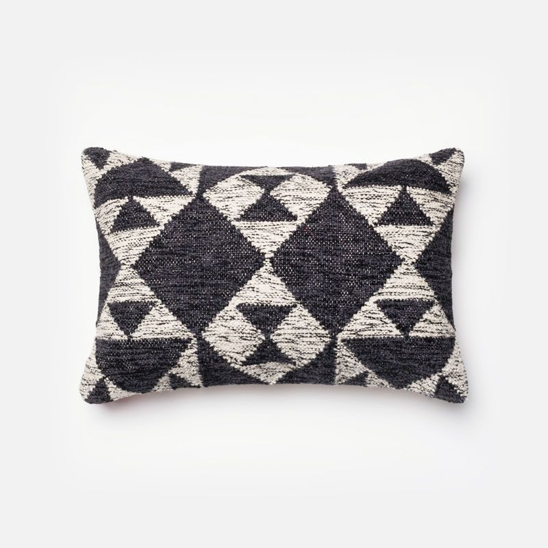 Loloi Rugs P40 Charcoal And Ivory Charcoal And Ivory Pillow With Delectable 13x21 Pillow Insert