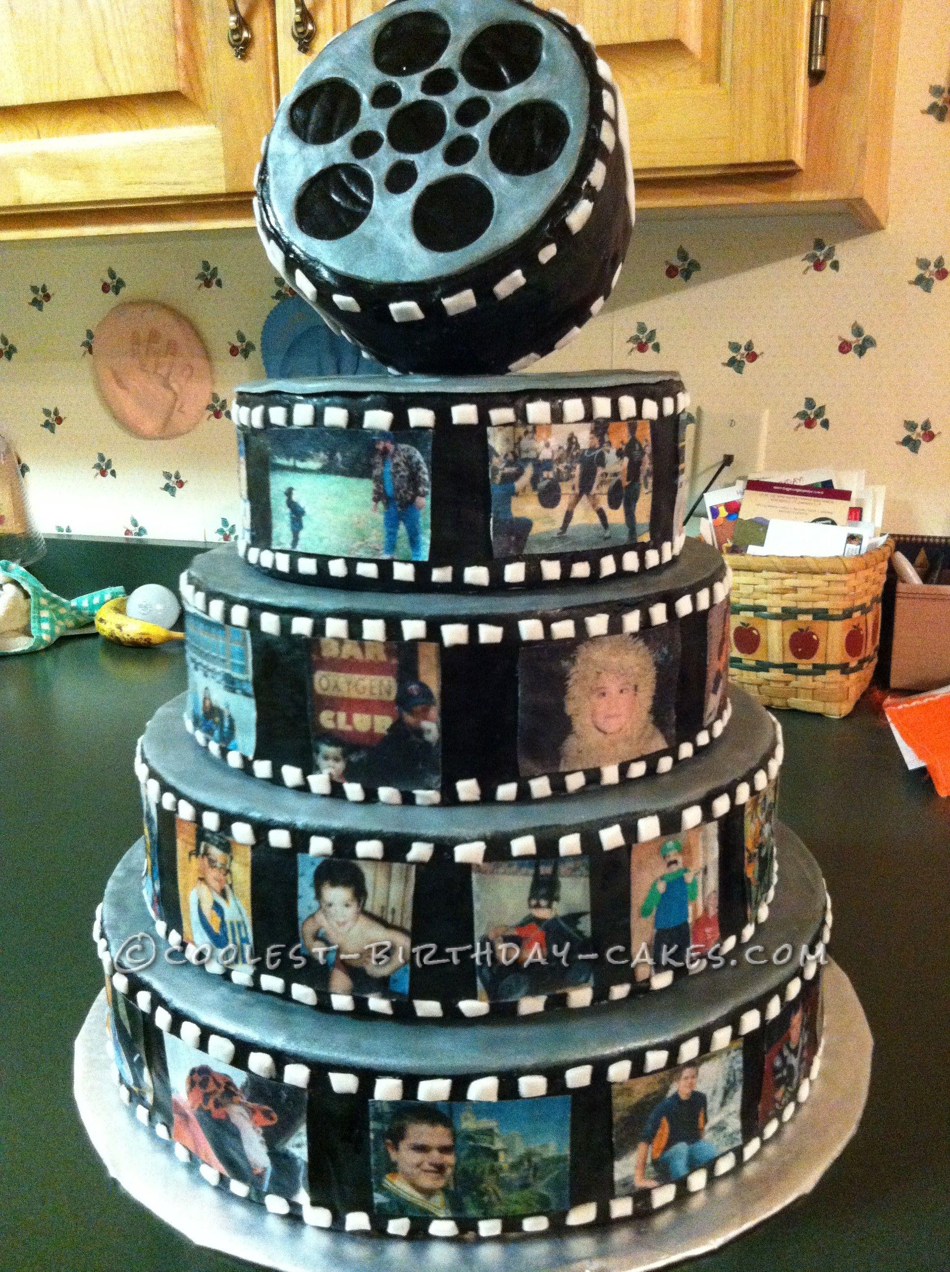 Coolest Snap Shot Photo Reel Birthday Cake Boys 18th Birthday Cake Themed Cakes Birthday Cake Pictures