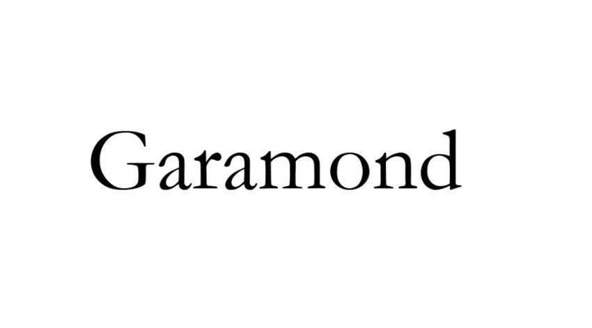 Garamond, uno dei caratteri più utilizzati dai grafici.  Questo font ha una storia davvero interessante ed è stato rielaborato varie volte nel corso degli anni da marchi prestigiosi.