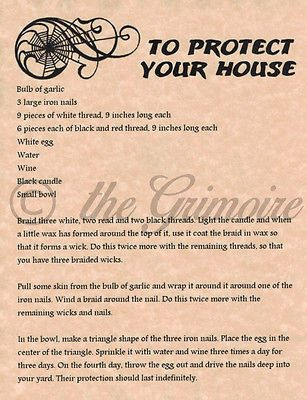 Protect your House spell, Book of Shadows Page, Witchcraft