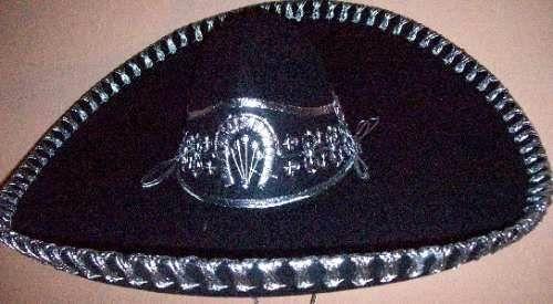 Sombrero De Charro Negro en MercadoLibre México  9e4b8d27d19