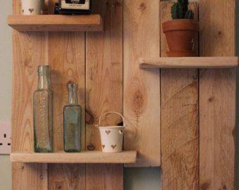 suspendu etageres fait main meuble rustique par sunnysideinteriors
