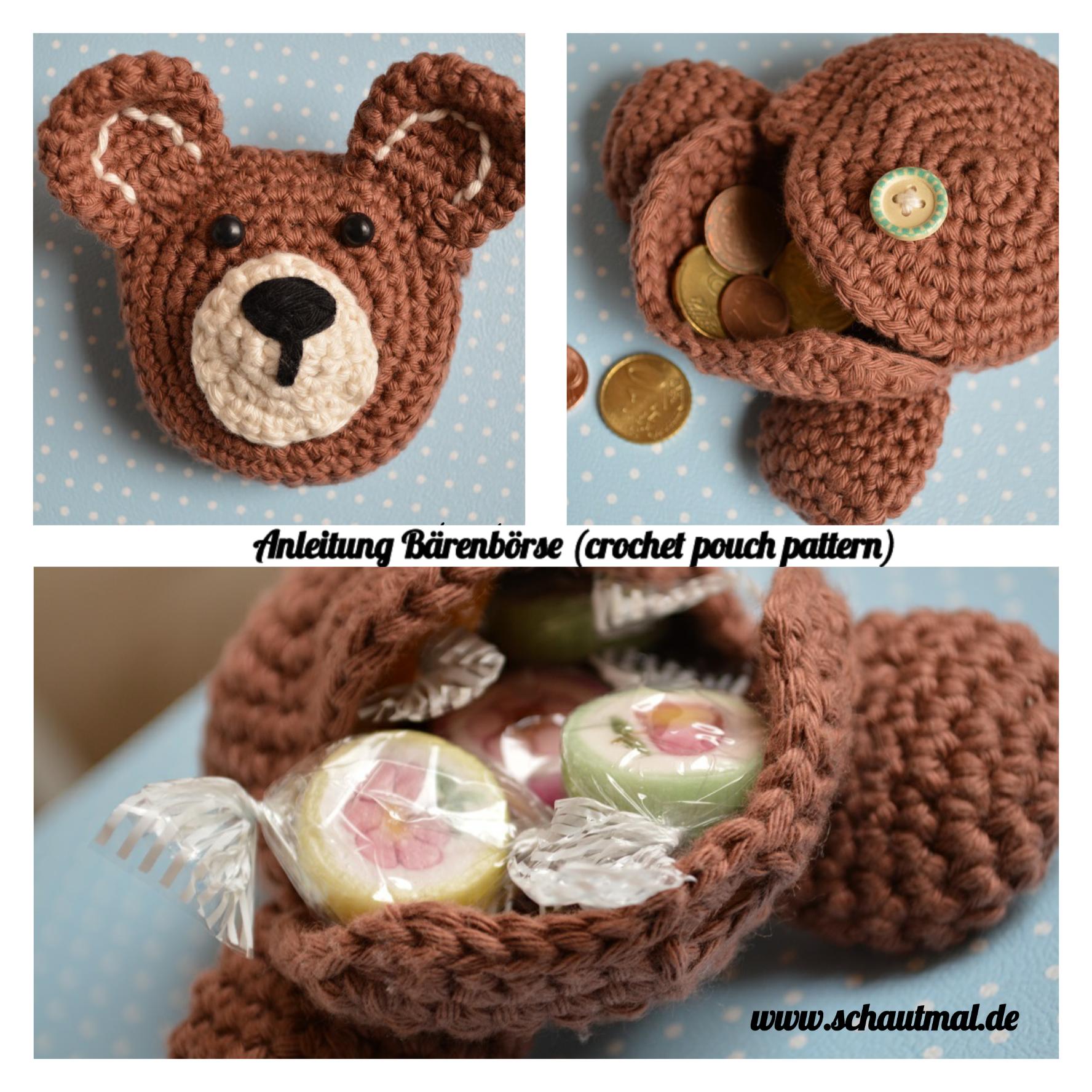 Schaut Mal: Baerenboerse Anleitung | Сrochet and knitting wallets ...