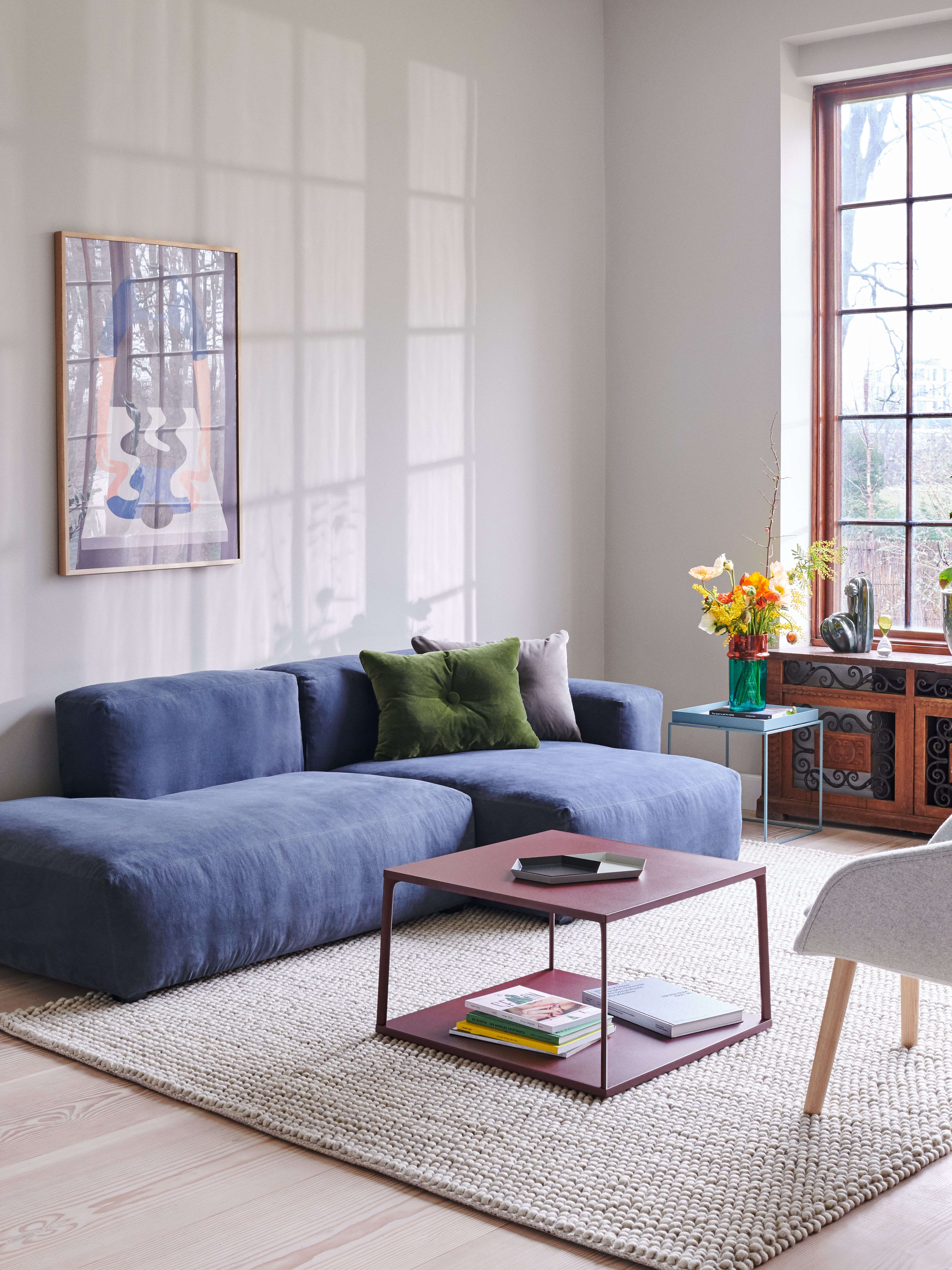 Mags Soft Low Sectional With Chaise Seating Small Living Room