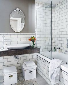 vintage industrial master bathroom | industrial bathroom | 2nd str