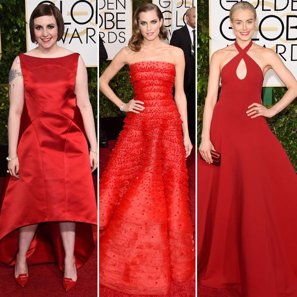 Flash back to last year's Golden Globe Awards, and it wasas though every A-list star and her mother wore every shade of red out there, from scarlet to crimson. After red's red carpet prominence, it seemed unlikely that the shade would dominate two years in a row, but how wrong we all were. RELATED: Wishful…