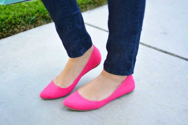 Hot pink flats, Pink flats, Pink shoes
