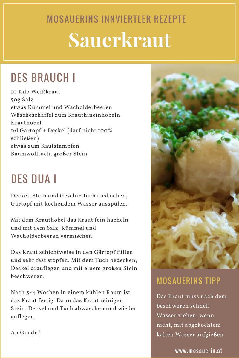 Mosauerins Innviertler Rezepte - Sauerkraut | Innviertler Landküche ...