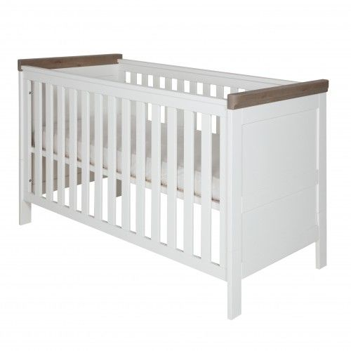 Savona weiß/grau - Umbau Bett 70x140 (ohne Kreuz) - Savona weiß / grau - Babyzimmer   Kidsmill