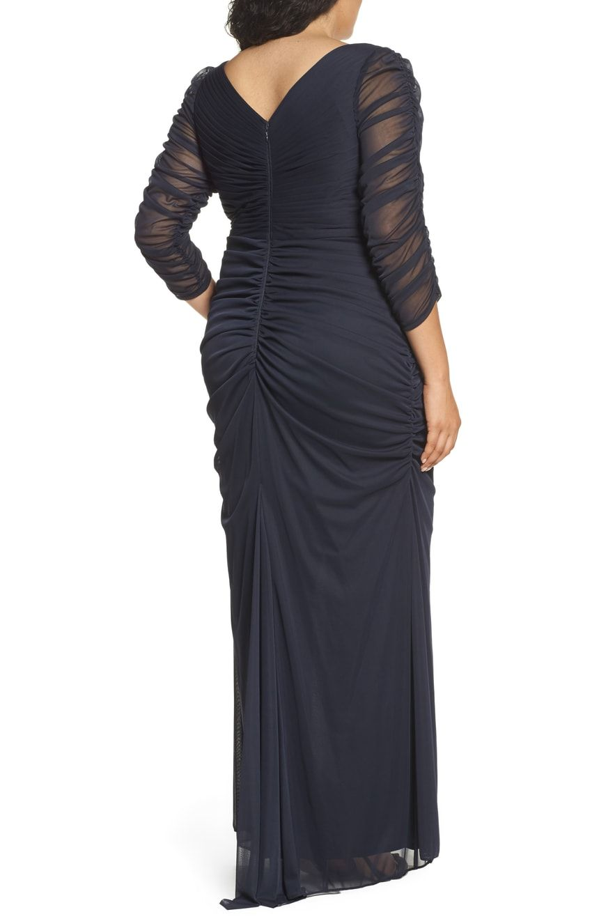Adrianna Papell Beaded Mesh Gown Plus Size Nordstrom Gowns Dresses Fashion [ 1319 x 860 Pixel ]