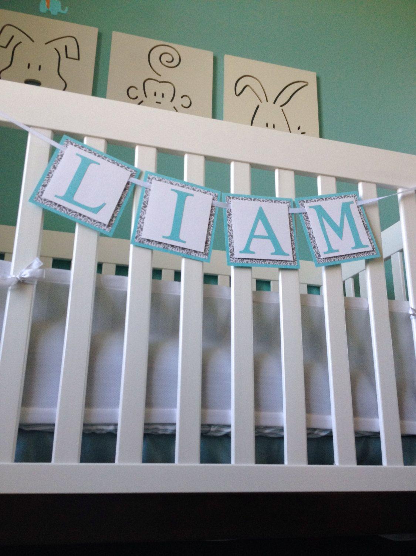 Nursery Decorations Tiffany Blue Banner By Twochihuahuas 28 00