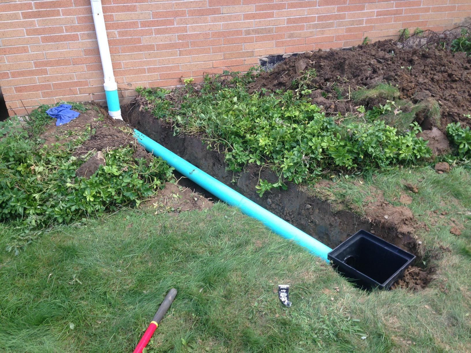 Farm Pond Drain Pipe