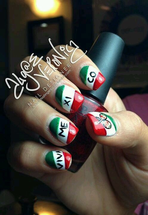 Viva mexico re pin nail exchange pinterest viva mexico complete world cup nail art 2014 gallery prinsesfo Image collections