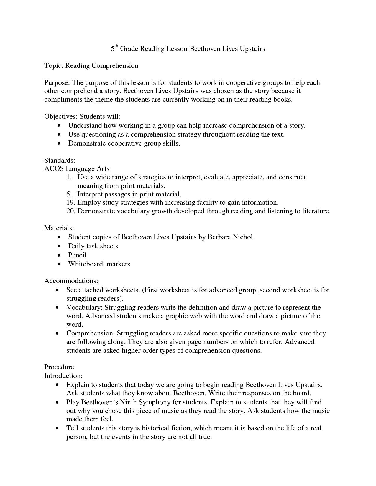 5th Grade Free Printable Worksheets