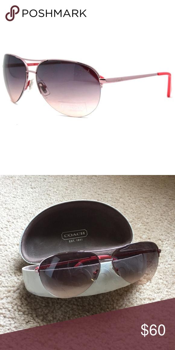 dfcb247c79 ... authentic i just added this listing on poshmark coach s1013 semi  rimless aviator sunglasses. shopmycloset