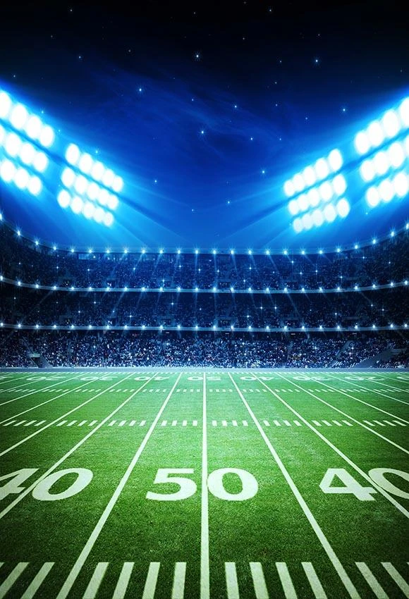 Football Field Spotlights Night Stadium Sports Photobackdrops G 296 Photography Backdrops Football Background Backdrops