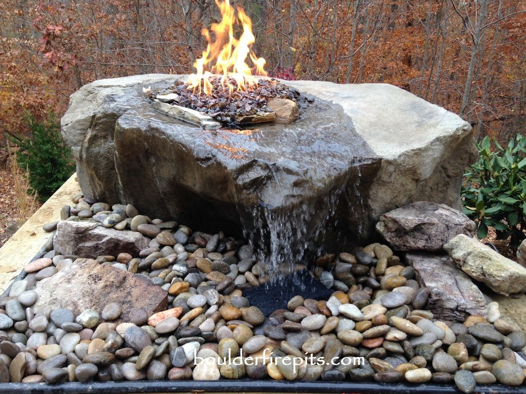 Fire Water Fountain Kentucky Basalt Bowl Fire Pit Fountain This Is An Idea We Have Had For Year Fountains Outdoor Diy Water Fountain Water Fountains Outdoor