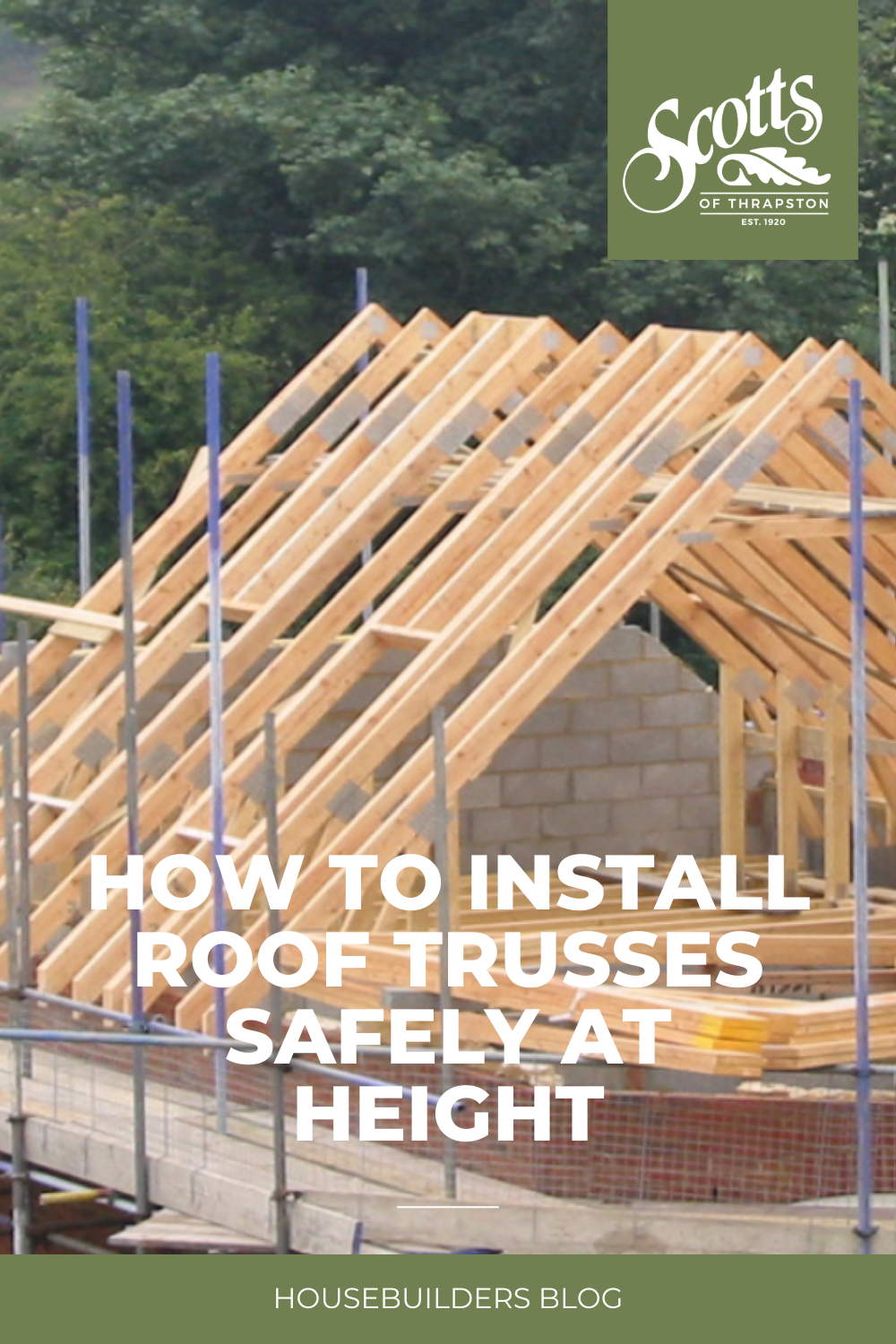 How To Install Roof Trusses Safely At Height In 2020 Roof Installation Roof Trusses Installation