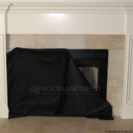 Magnetic Fireplace Blocker Blanket Keeps The Heat From Leaving