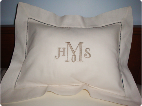 Don T Be Afraid Of Pillows Beautiful Hemstitched Boudoir
