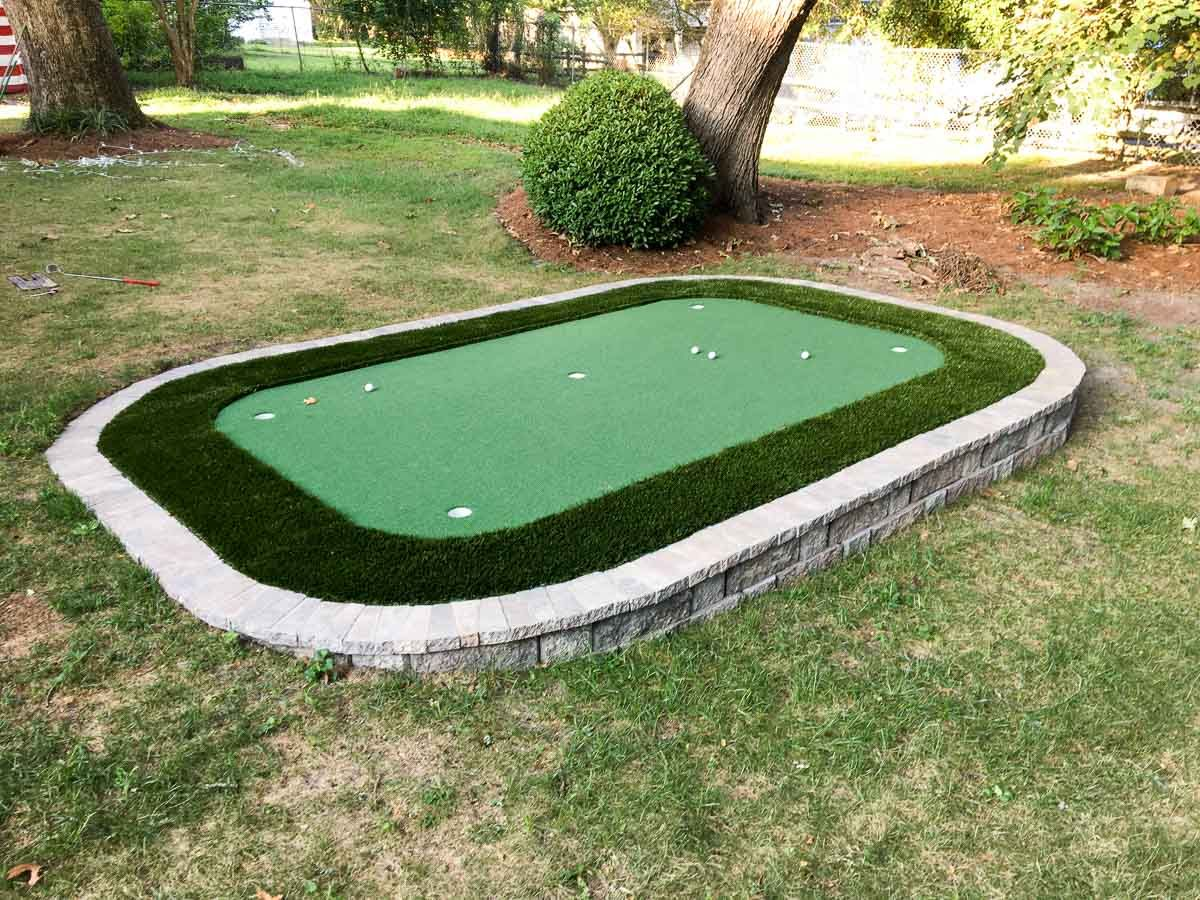how to diy a backyard putting green life on the green