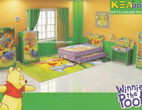 jual kamar set winnie the pooh kea panel | furniture, anak