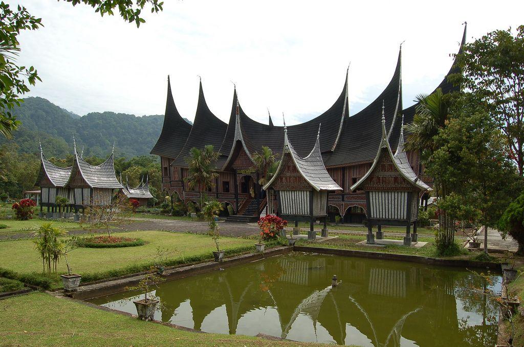 Rumah Gadang In Padang Panjang Minangkabau Traditional House Culture Of Indonesia