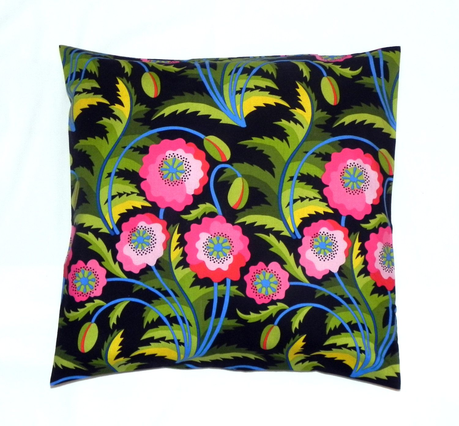 Best Ways To Redecorate With Green: Decorative Pillow Covers. Set Of Two 16x16. Black, Pink