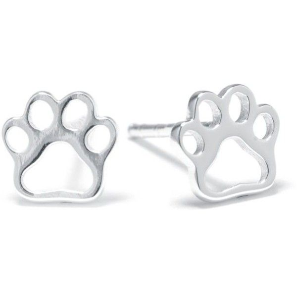 Belk Silverworks Silver Sterling Silver Small Paw Print Stud Earrings (208.030 IDR) ❤ liked on Polyvore featuring jewelry, earrings, silver, silver stud earrings, silver jewelry, silver animal jewelry, polish jewelry and sterling silver jewelry
