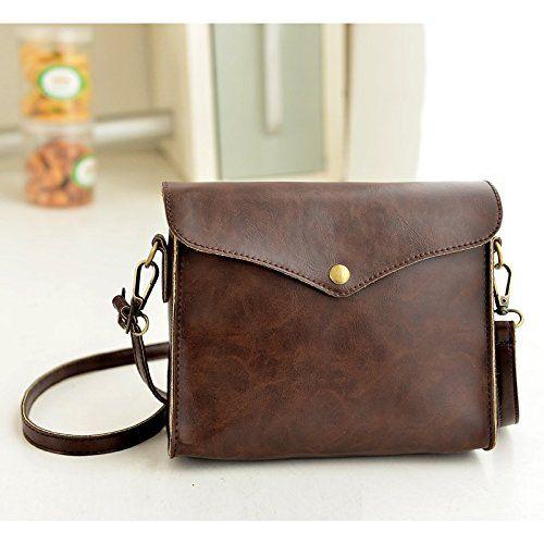5d2dfe4d0211 Retro Women Shoulder-Bag Faux Leather Crossbody Messenger Mini Bag ...