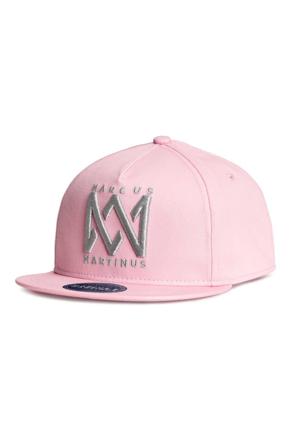432d14840c3 Cap with Motif | Pink/Marcus & Martinus | KIDS | H&M US | 子どもの ...