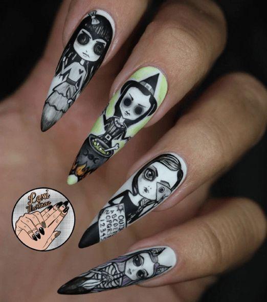 Halloween Nail Art Designs Without Nail Salon Prices: Claws Black Willow Art Nail Design, Nail Art, Nail Salon