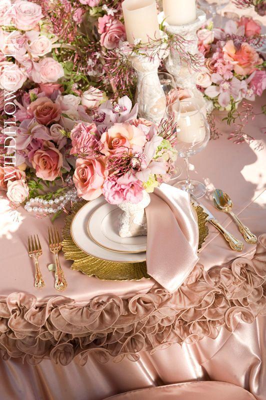 Blush hues and vintage romance