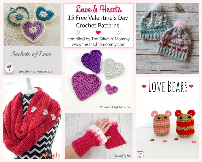 Love & Hearts! 15 Free Valentine\'s Day Crochet Patterns | Ganchillo
