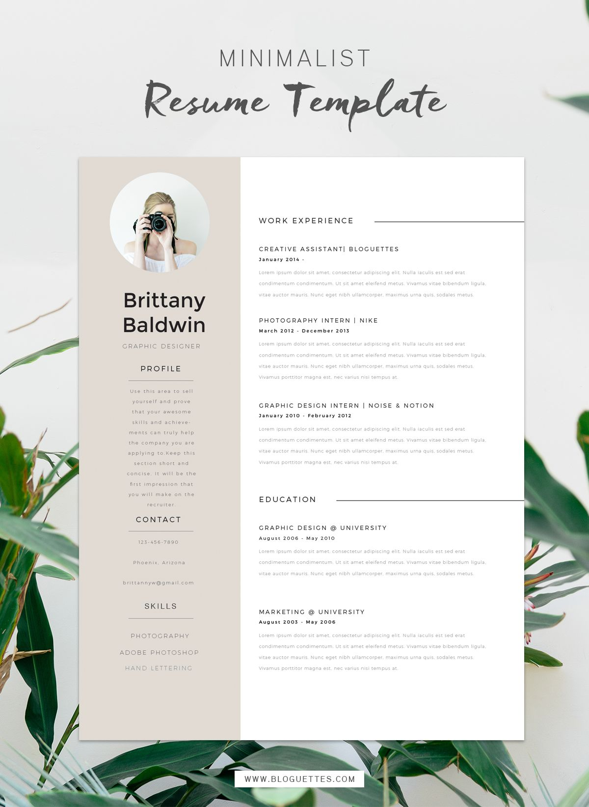 Resume Professional Skills Resume Template  Brittany  Pinterest  Template Blogging And Business