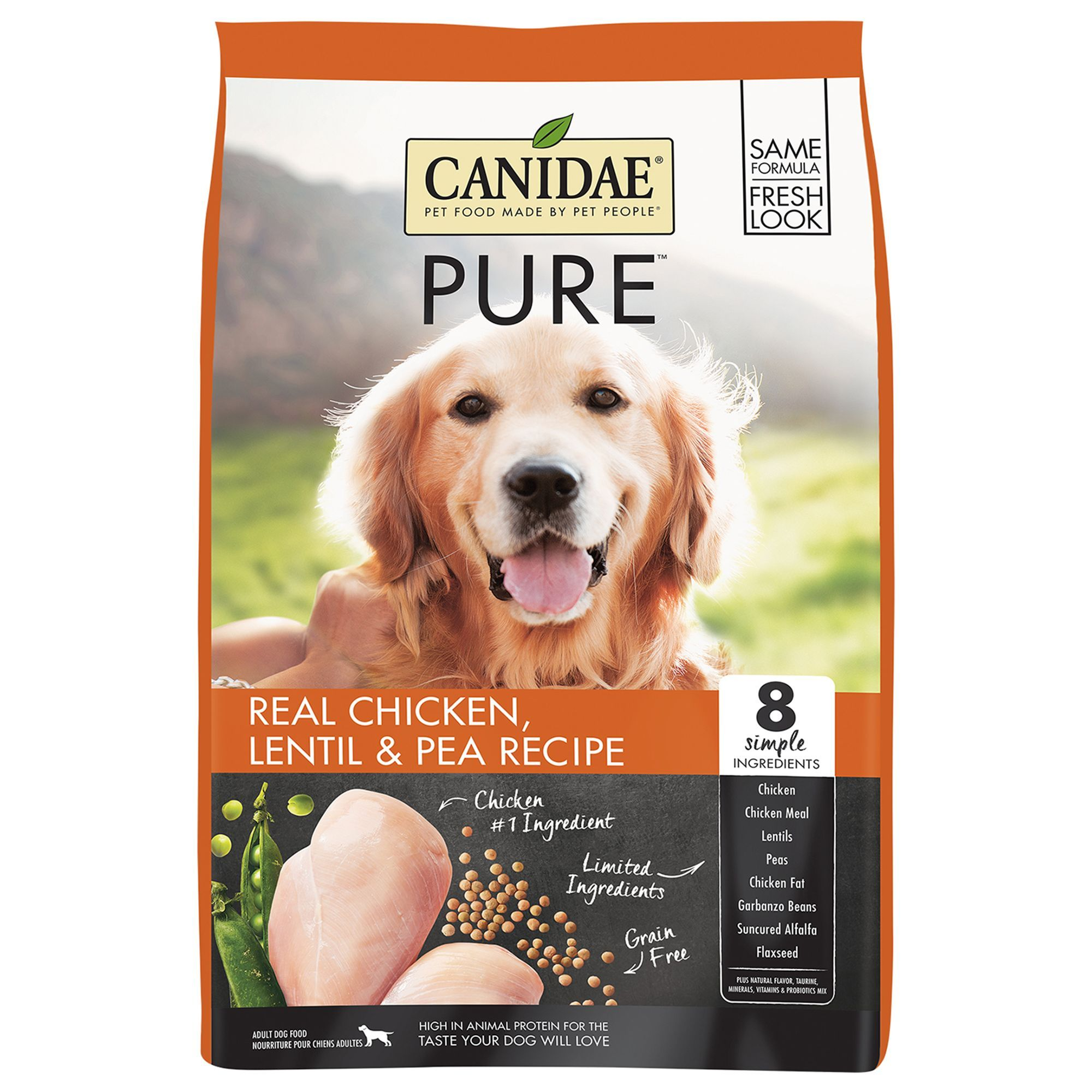 Canidae pure dog food limited ingredient natural grain