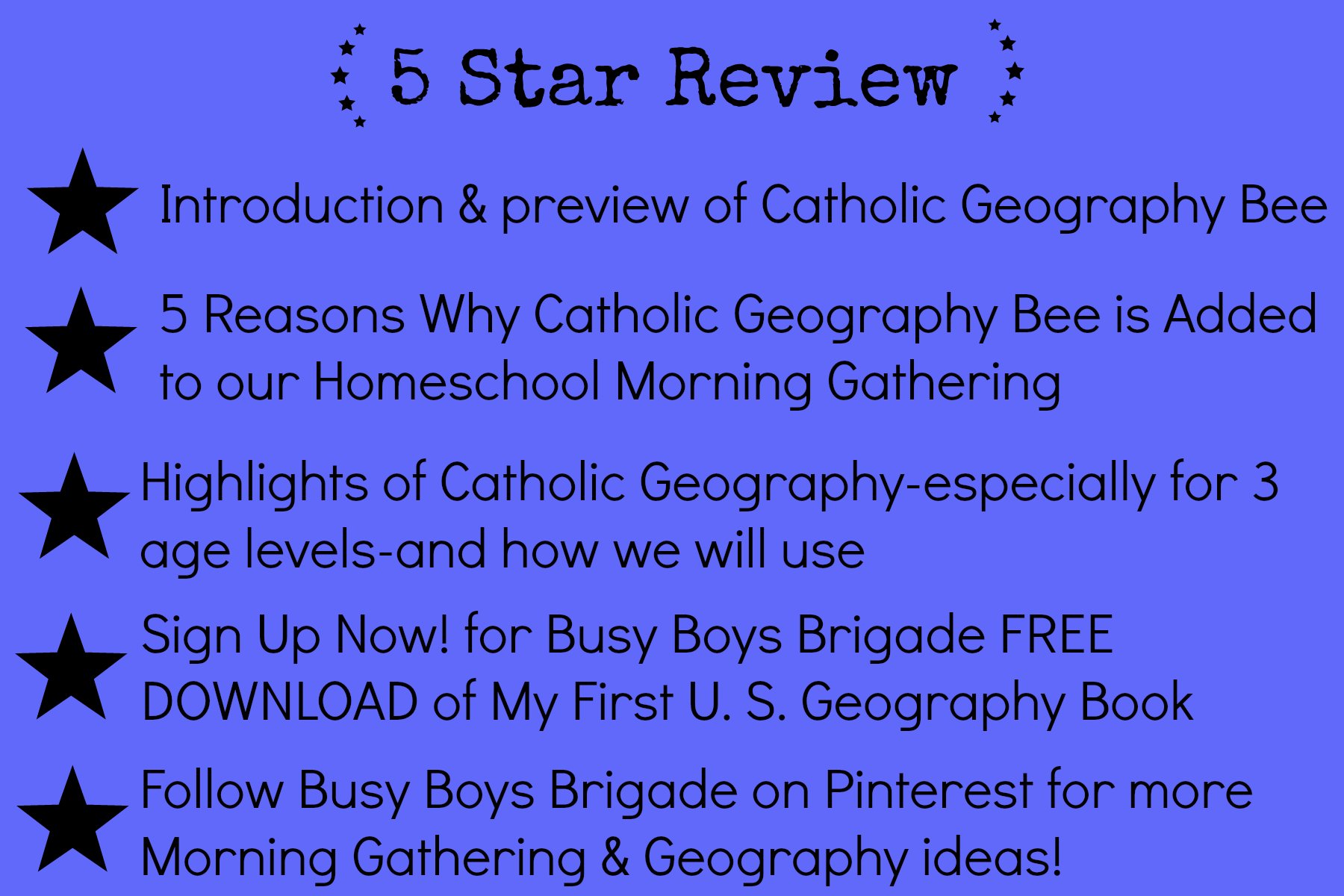 How To Use Catholic Geography Bee In Homeschool Morning
