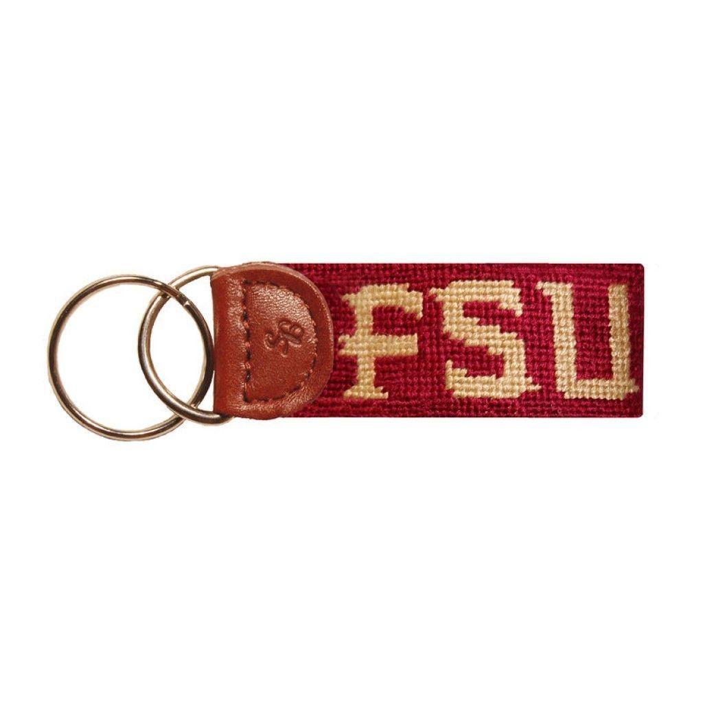 Florida State University Needlepoint Key Fob In Garnet By Smathers Branson Needlepoint Key Fob Fobs Smathers