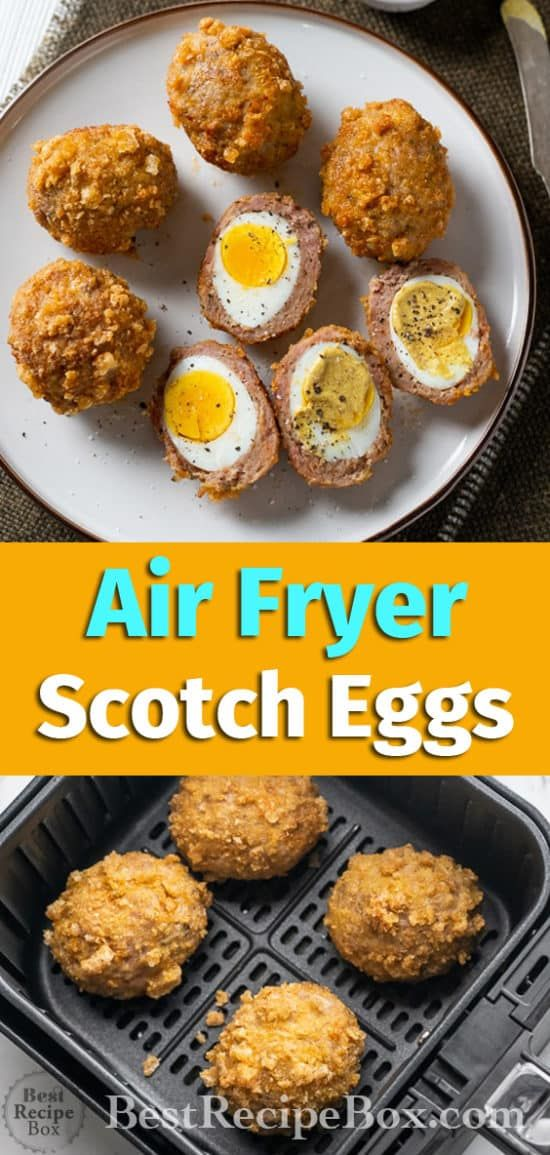 Air Fryer Scotch Eggs Recipe Low Carb KETO | Best Recipe Box