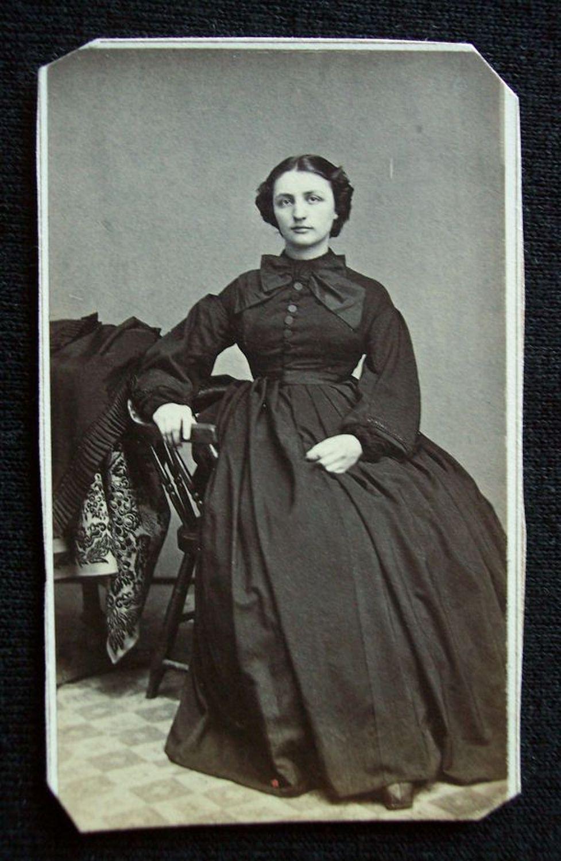 Civil War Era 1860's CDV Photograph Tax Stamp Woman Hopkinton Iowa | eBay