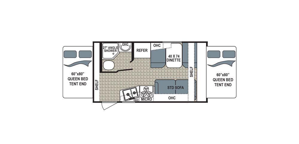Dutchman Kodiak Wexpandable 172e Floor Plans Kodiak Best Travel Trailers
