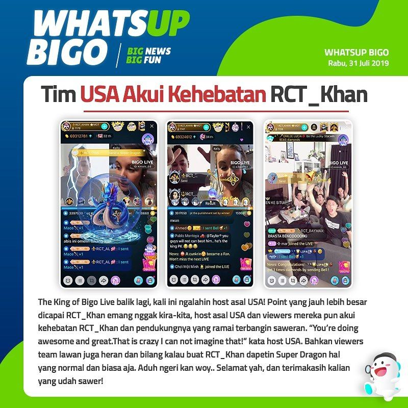 Whatsupbigo Bigonews Bigolive Bigolive Bigoliveindonesia Streaming Live Broadcast Live