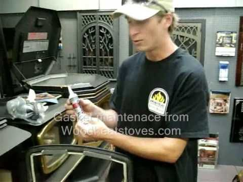 How To Replace A Door Gasket On A Wood Stove Youtube Wood Stove Stove Wood