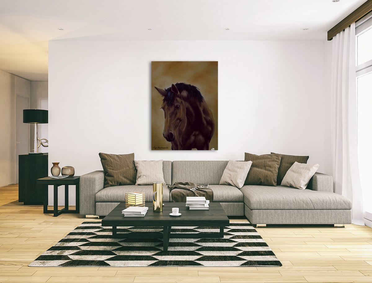 Interior Decor, Inspiration, brown, horse, portrait, equine, art ...
