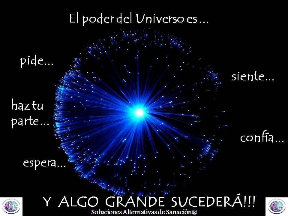 El Poder Del Universo Universo Confie Y Afirmaciones