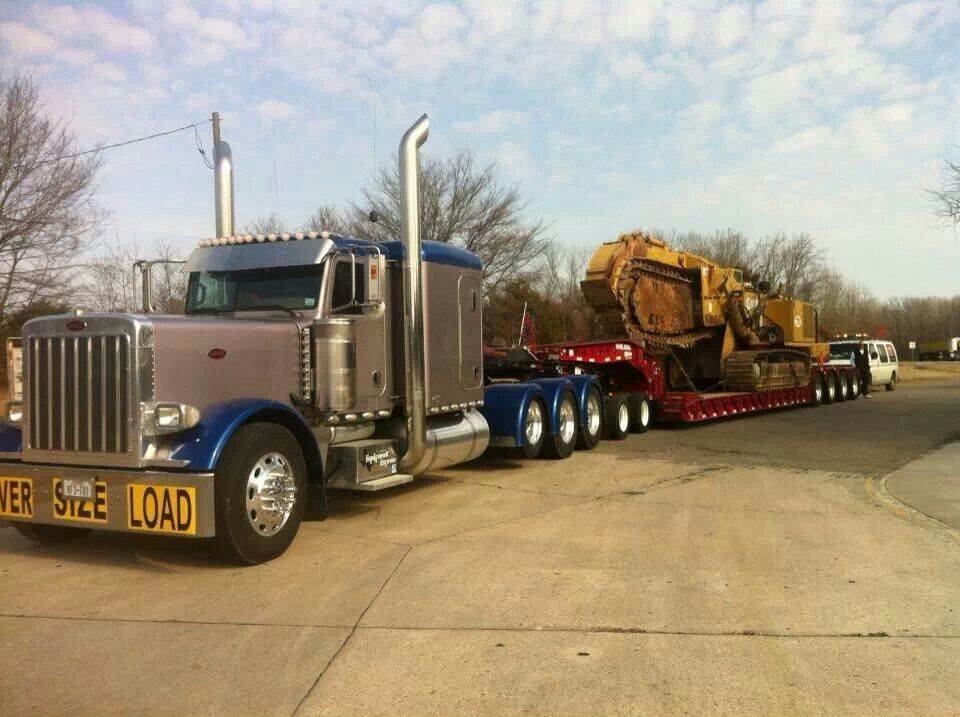 2 Axle Truck : Sharp peterbilt triaxle with axle jeep and rgn