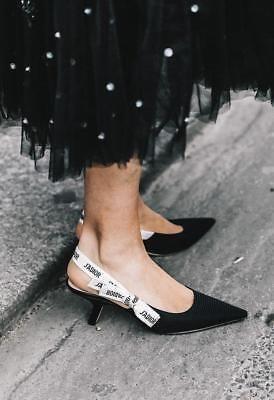 778e49a7b9da Christian Dior J Adior Bow Kitten Heel Slingbacks size 36