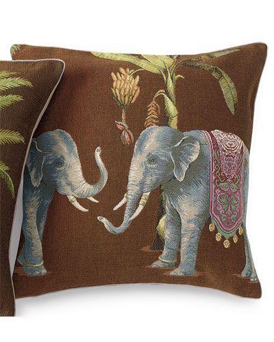 Gump s Diwali Elephants Decorative Pillow