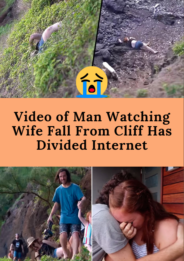 Video Of Man Watching Wife Fall From Cliff Has Divided Internet Baby Gril Guy Gifs Things To Come